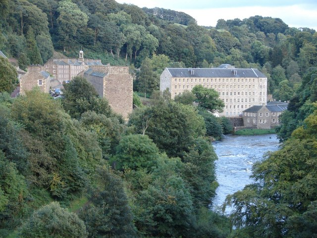 Looking from the Clyde towards New Lanark