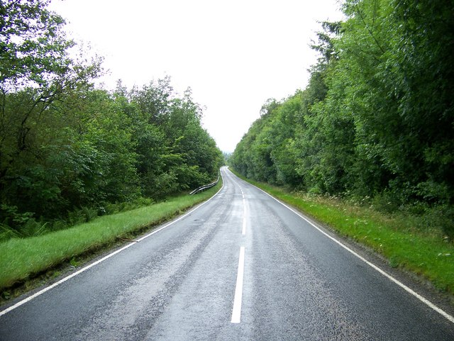 A886 descending into Glendaruel