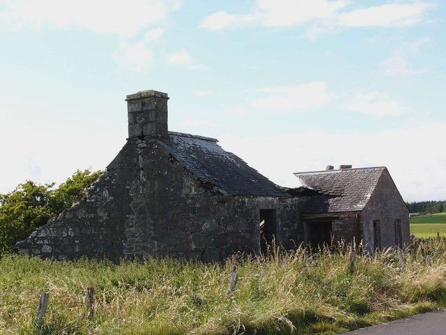 Ruined house at West Culvennan