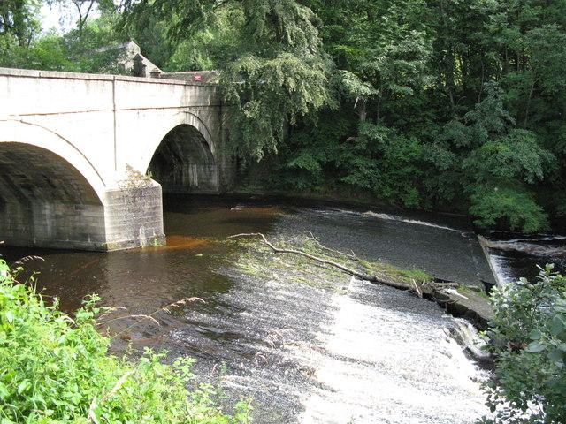 The weir below Allenmill Bridge