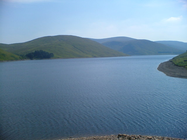 Looking across Megget Reservoir