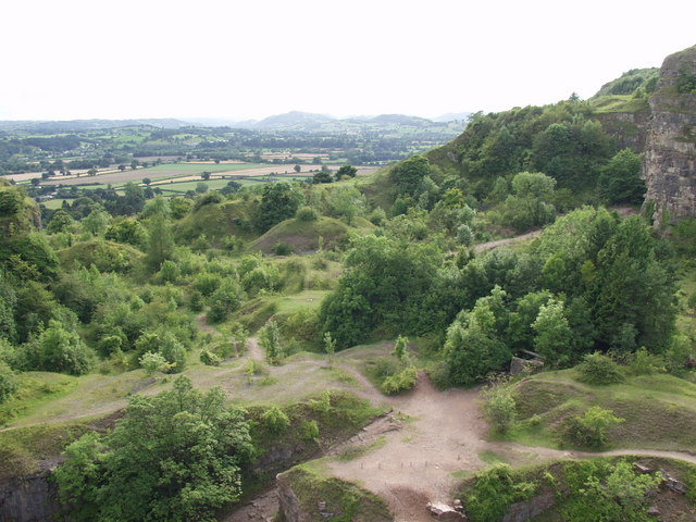 General view of Llanymynech quarry looking south