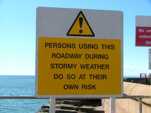 Sign at the entrance to Arbroath Harbour