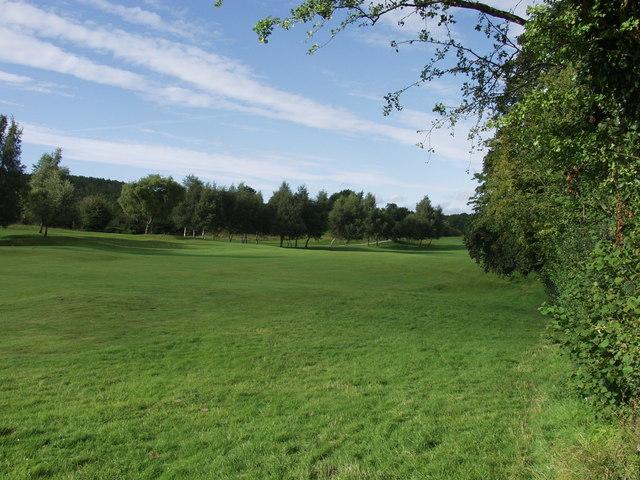Fairway on Llanymynech golf course