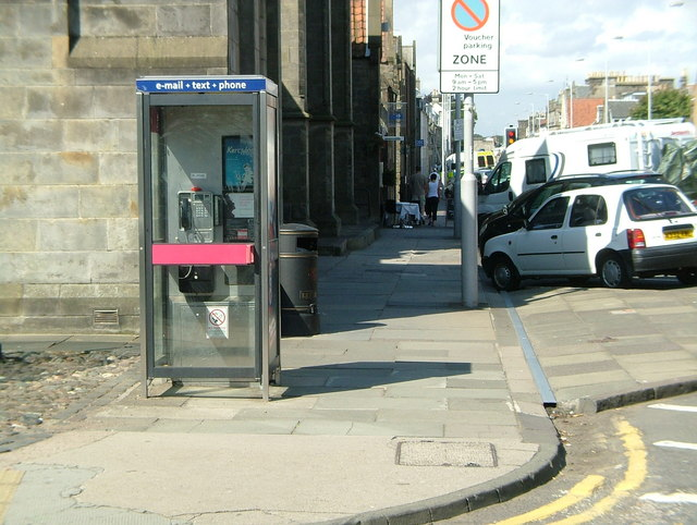 Telephone box at junction of North Street & Union Street
