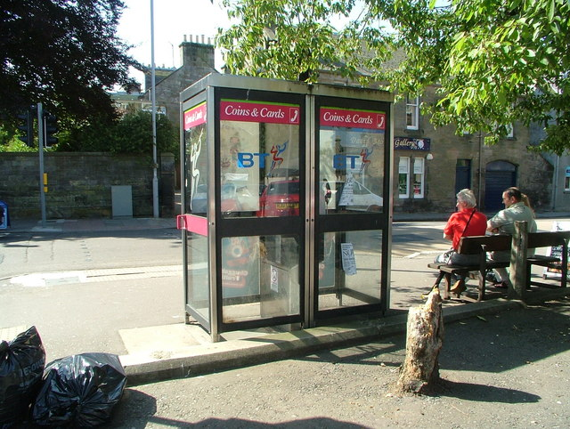 Telephone boxes at Ellice Place