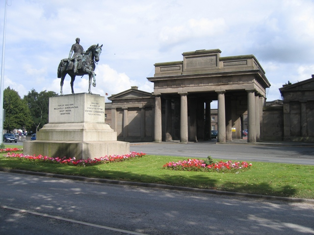 Statue of Viscount Combermere and Chester Castle Entrance