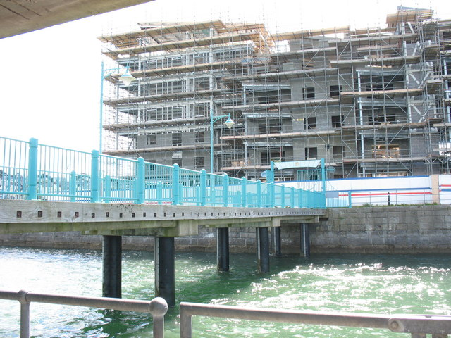 The Victoria Dock Development from the Landerneau Pier July 2007
