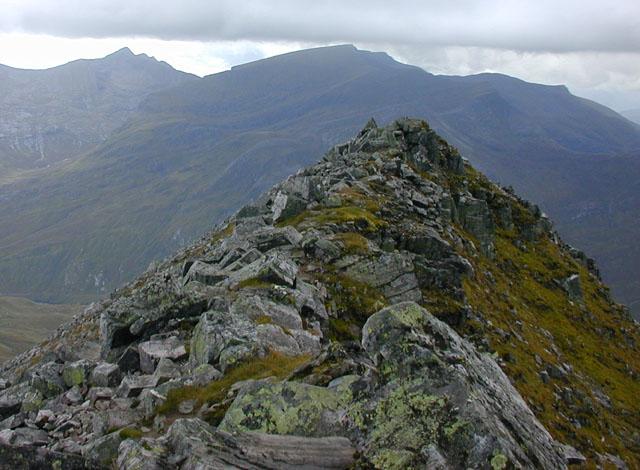 The northern summit of Binnein Mor