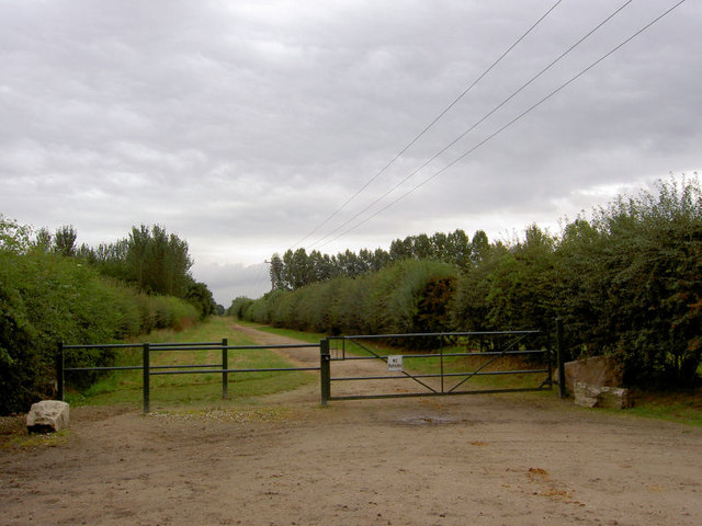 Gate with horse access on side.