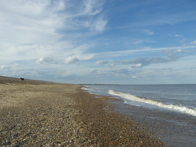 Dunwich beach looking North