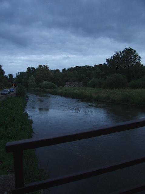 River Coln at dusk