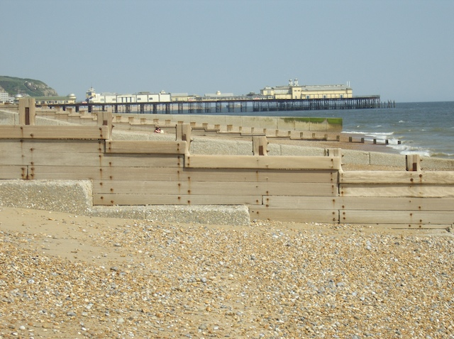 The beach at St Leonards on Sea