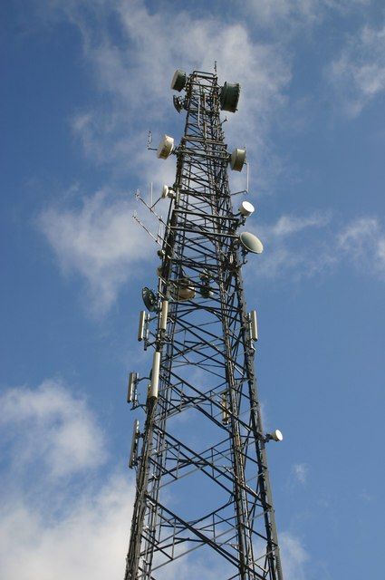 Communications mast near High House