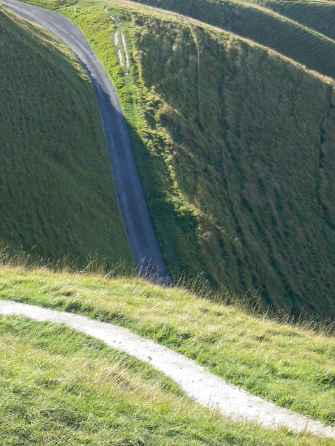 Steep road up to Whitehorse Hill
