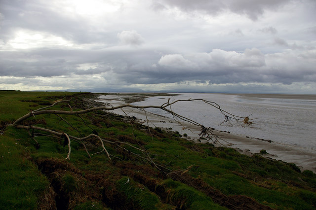 Shoreline below LadyHall Farm