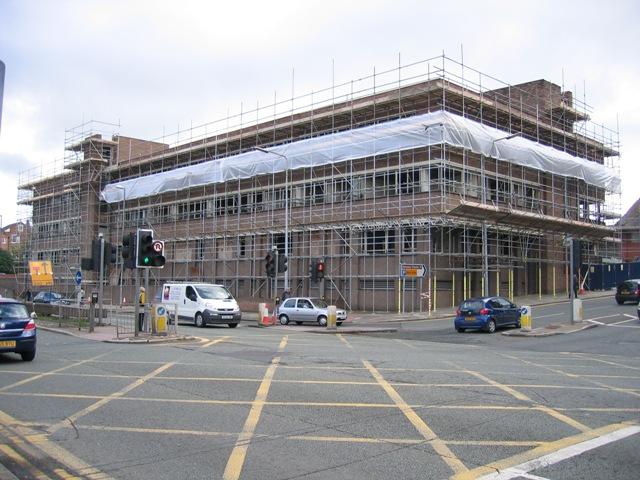 St Martins House being prepared for Demolition