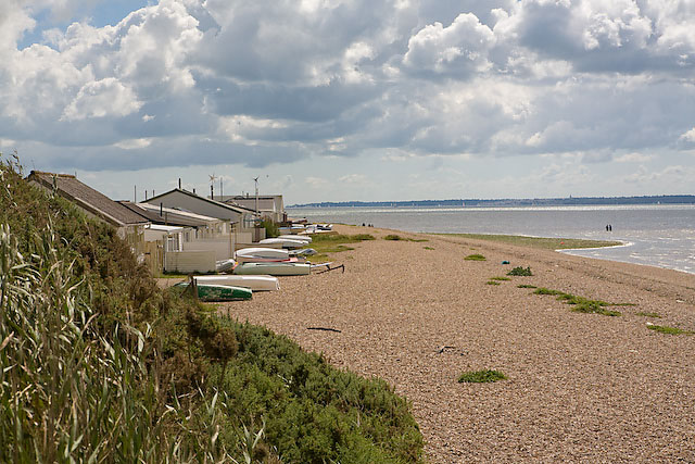 Meon Shore Chalets and foreshore