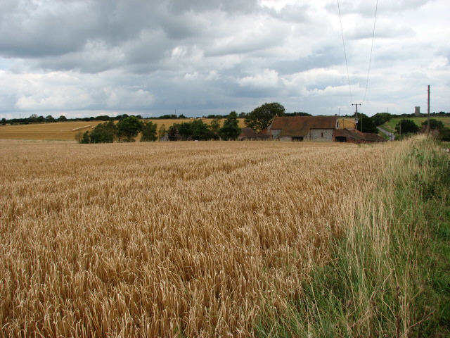View across field to Pit Farm