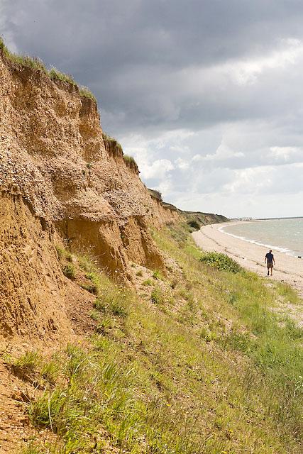 Gravel cliffs near Sea House