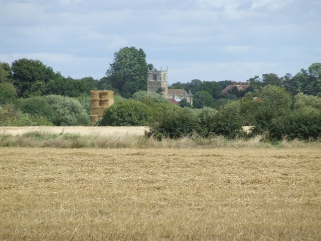 Church across the fields