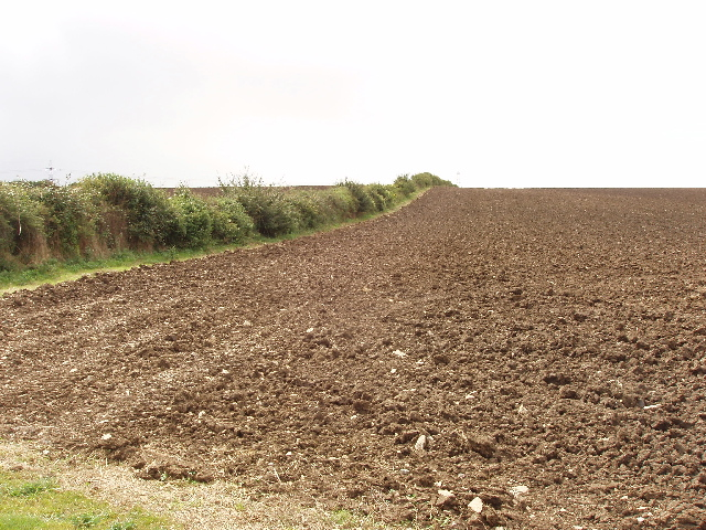 Recently deep ploughed field, Newton Park Farm