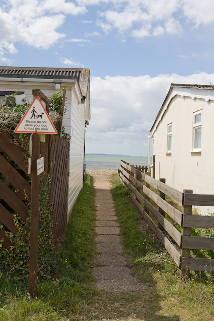 Looking across the Solent through Meon Shore Chalets