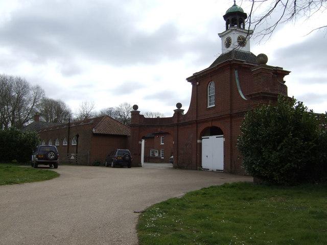 Entrance way to Didlington Hall