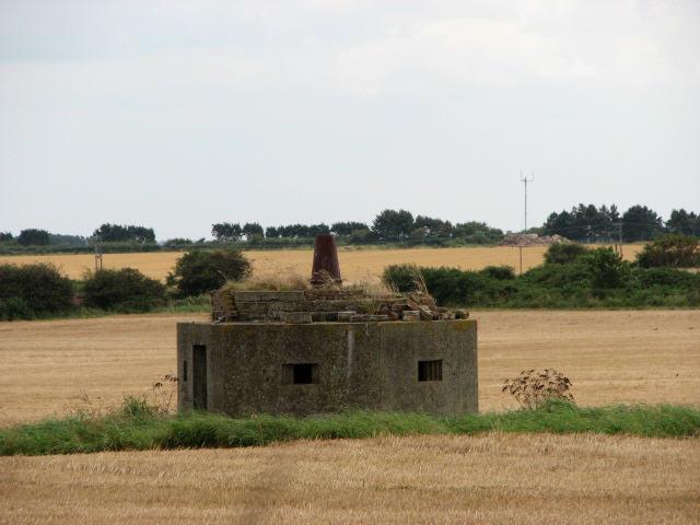 Pillbox in field