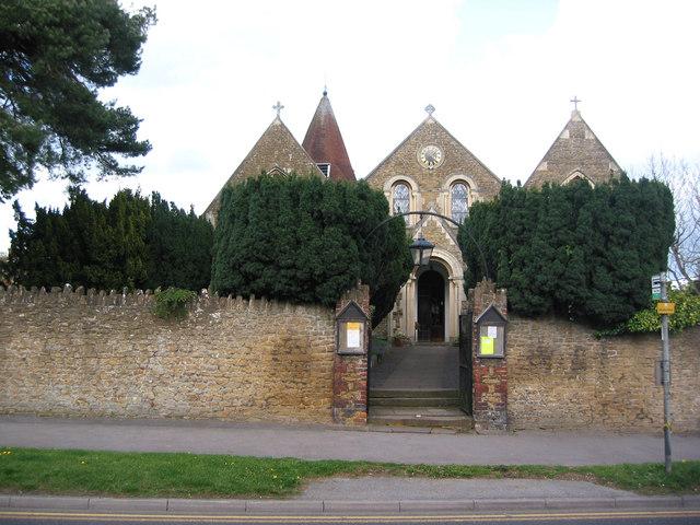 Holy Trinity Church, Bramley before the trees were cut down
