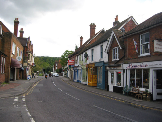 The High Street, Bramley,  looking south