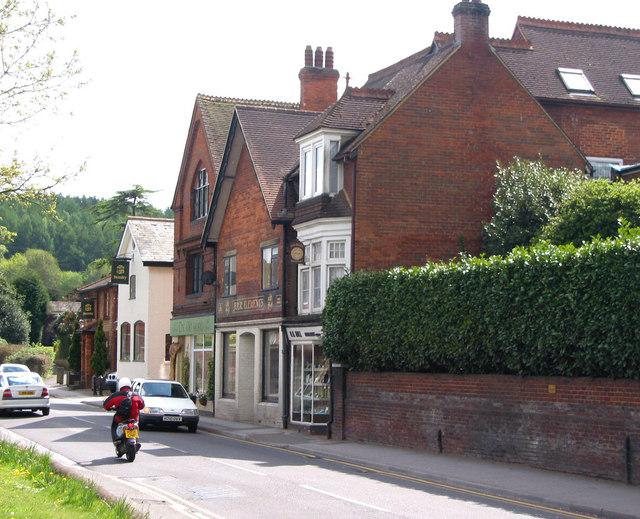High Street, Bramley opposite the Library