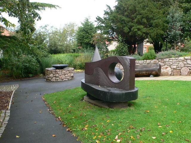 Sculpture in Wynn Gardens, Old Colwyn