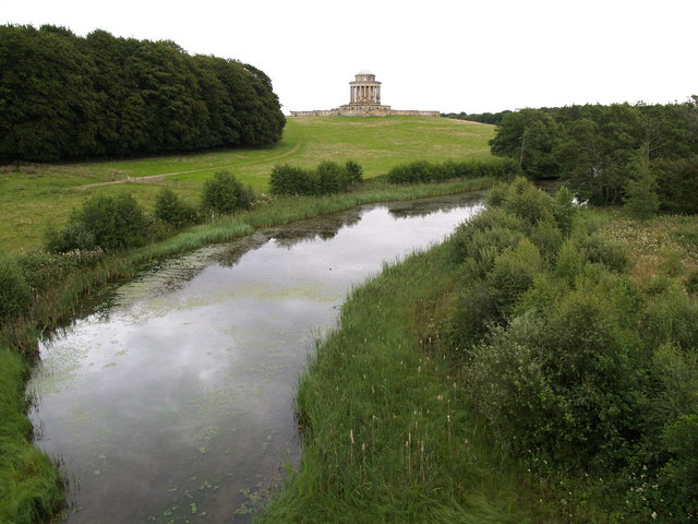 New River Pond and Mausoleum at Castle Howard