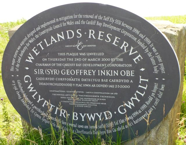 Newport Wetlands Plaque