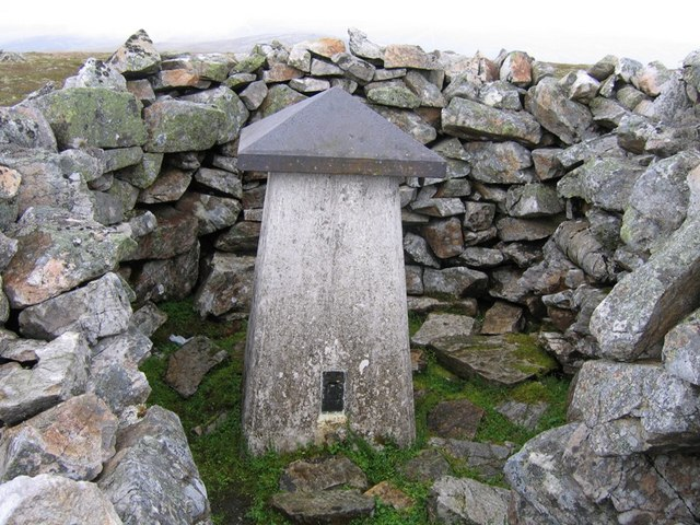 Trig point with hat