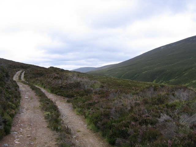 Track heading to Glen Fiddich