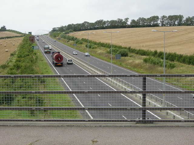 New A299 cuts across fields and footpath