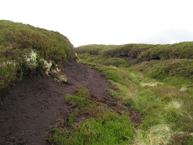Peat hags, Caddon Head