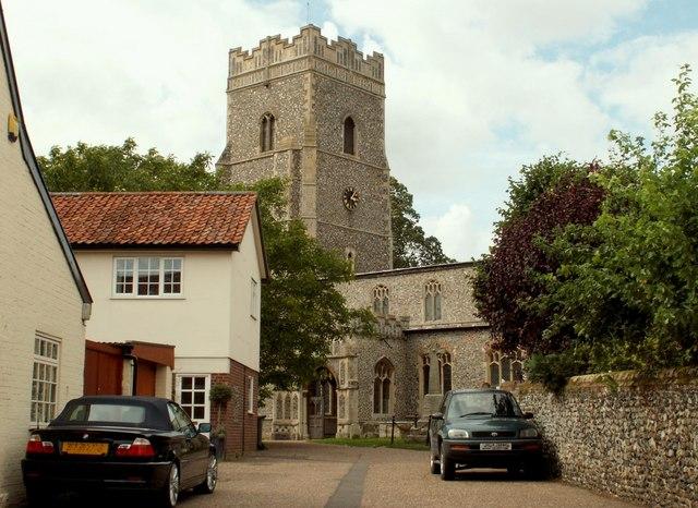 St. Mary's; the parish church of Ixworth