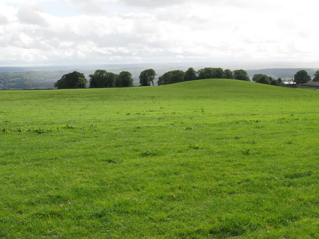 Pasture land and hill 209m near Fallowfield