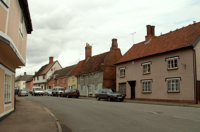 Part of the High Street at Ixworth