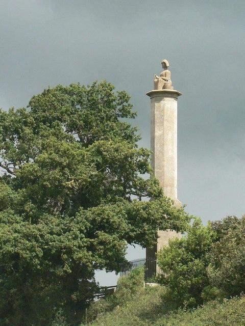 Maud Heath monument: close-up