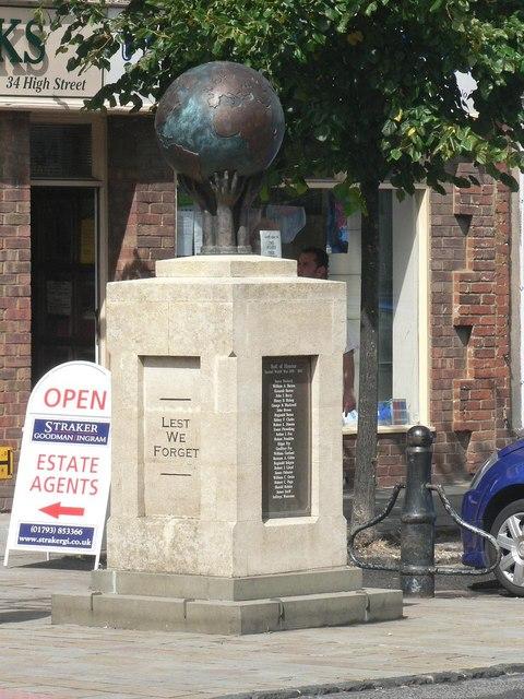 Wootton Bassett: war memorial