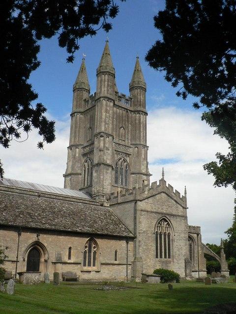Cricklade parish church: rear view