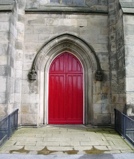 Doorway, St Thomas Church, Pendleton, Salford