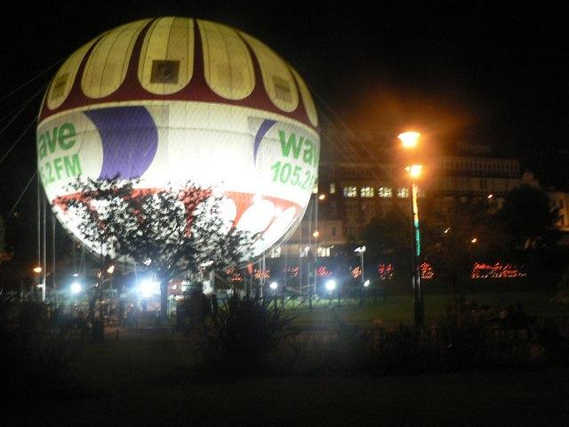 Bournemouth: the balloon floodlit