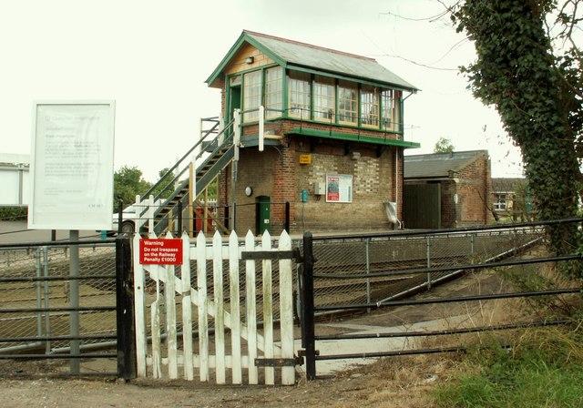 The signal control box at Dullingham Station