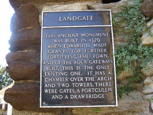 Plaque on Landgate