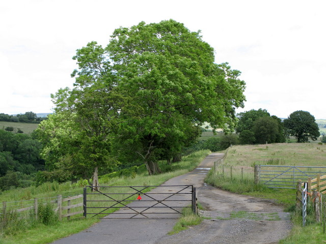 Cattle grid east of Longlee Farm